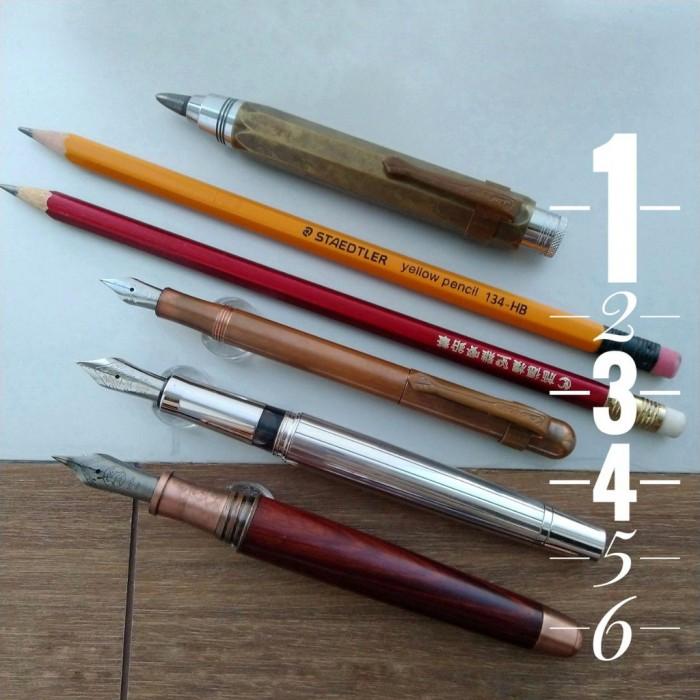 Best 6種書寫工具比較, Kaweco, Waldmann, 老山羊鋼筆