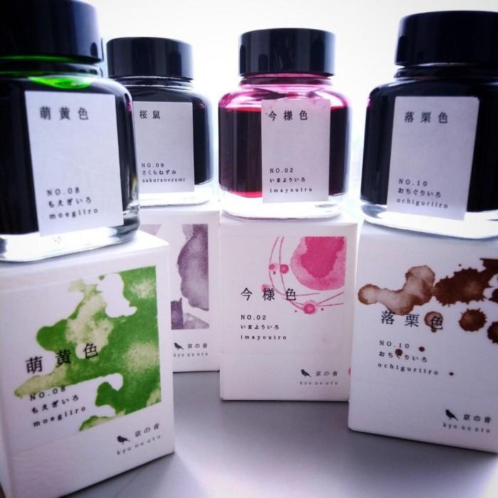 四隻日本名牌京都傳統色彩-「京之音」系列鋼筆墨水 + 今樣色樽裝鋼筆墨水40ml 開箱文