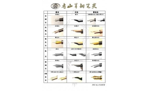 3952 Pens Chinese Calligraphy Nibs Designs