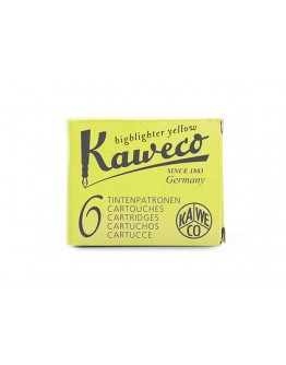 Kaweco Ink Cartridges 6 Pieces Glowing Yellow